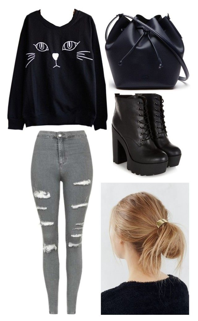 """Outfit #2 Casual"" by anaza1410 on Polyvore featuring moda, Topshop, Urban Outfitters y Lacoste"
