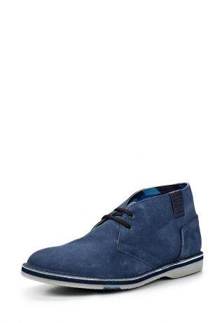 Кожаные ботинки от Bikkembergs. Модель лаконичного дизайна, верх выполнен из натурального спилока, внутренняя часть отделана гладкой кожей. Особенности: кожаный шильдик с логотипом бренда сбоку, гладкая гибкая подошва. http://j.mp/1pNreou
