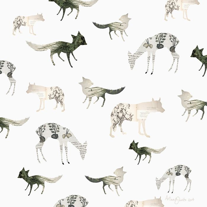 paper animals pattern by art and ghosts