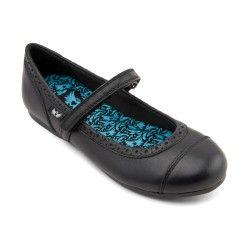 Black Leather Girls Riptape School Shoes http://www.startriteshoes.com/school-shoes