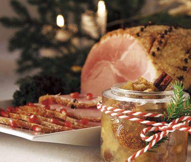 Recept: Griljerad julskinka