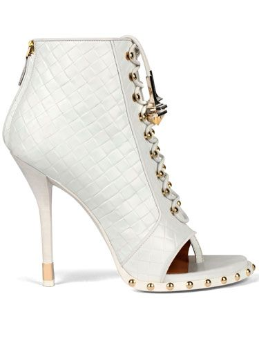 White-hot: studded lace-up booties  Givenchy by Riccardo Tisci Bootie ❉ Fall 2012