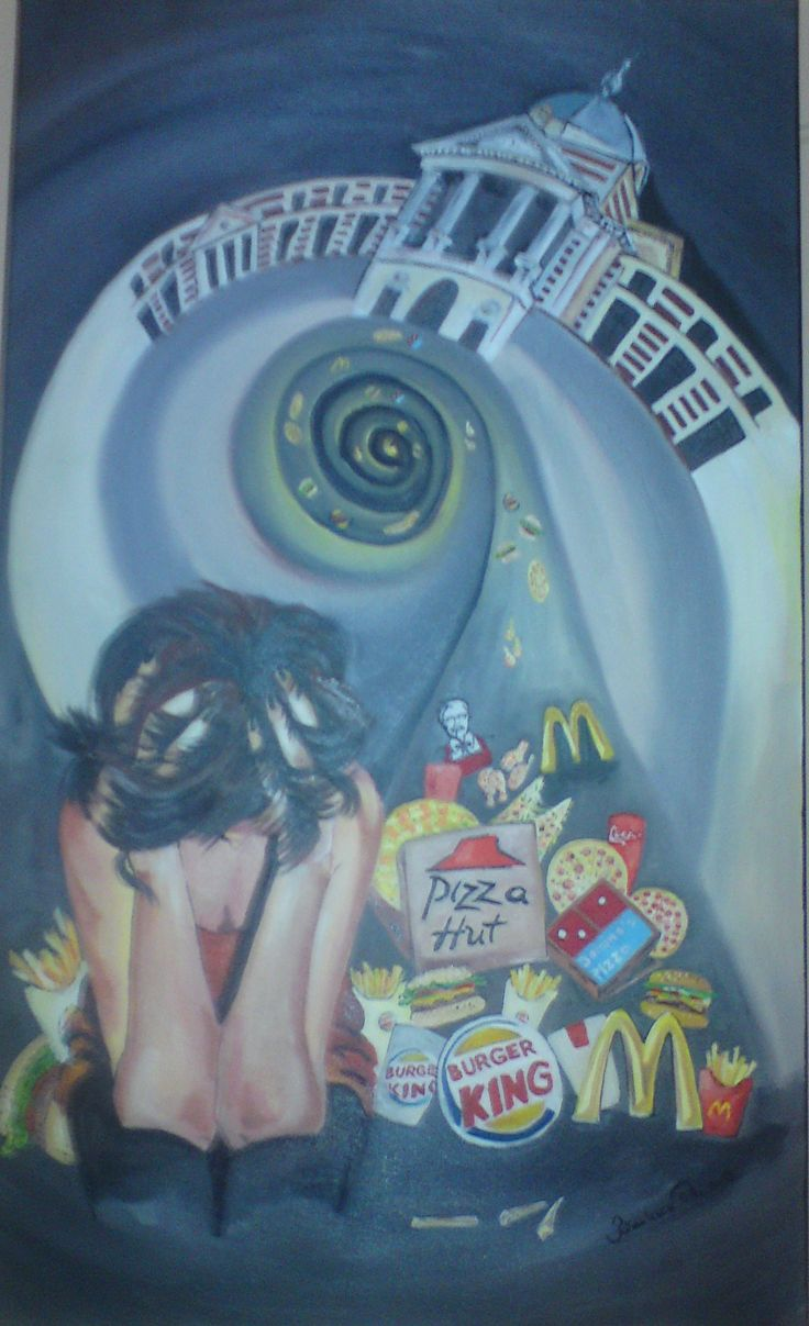 Food mania Oil on canvas 90x60 cm