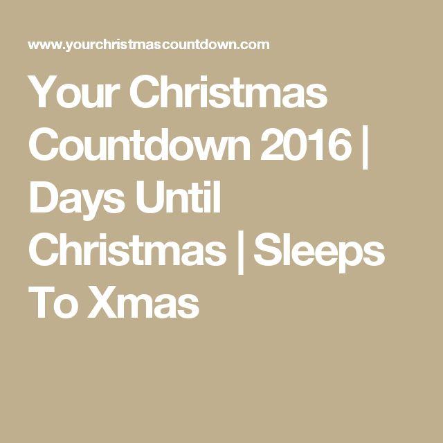 The 25+ best Sleeps until christmas ideas on Pinterest | Sleeps to ...