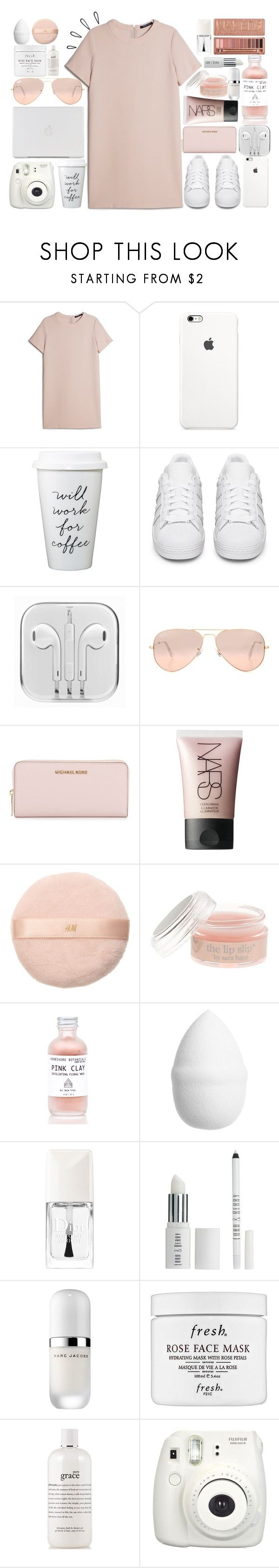 """""""If there's winners and losers, then I'll be the loser"""" by xcuteniallx ❤ liked on Polyvore featuring MANGO, adidas Originals, Ray-Ban, MICHAEL Michael Kors, NARS Cosmetics, H&M, J.Crew, Urban Decay, Christian Dior and Lord & Berry"""
