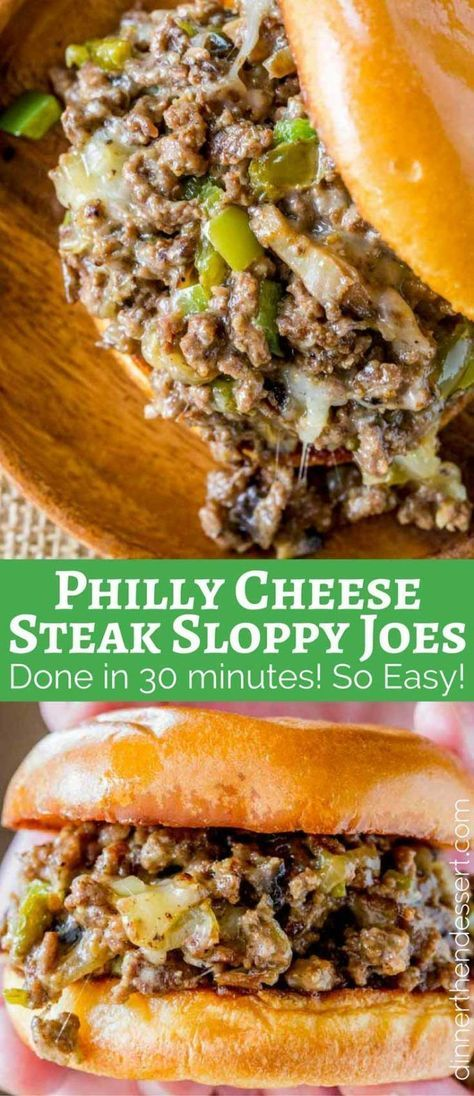 Whelp may have to try this sometime Philly Cheese Steak Sloppy Joes