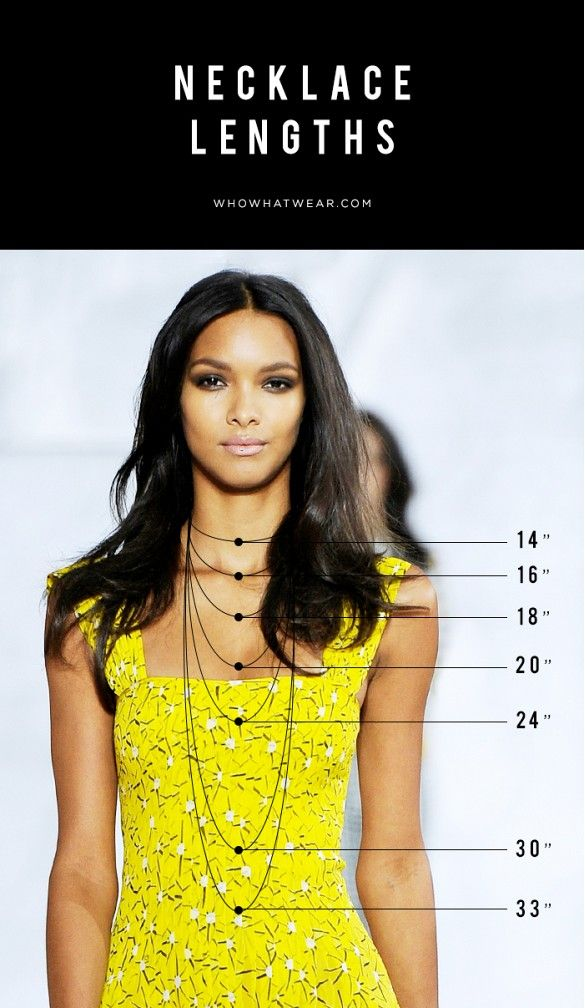 Master the necklace layering with this helpful infographic.