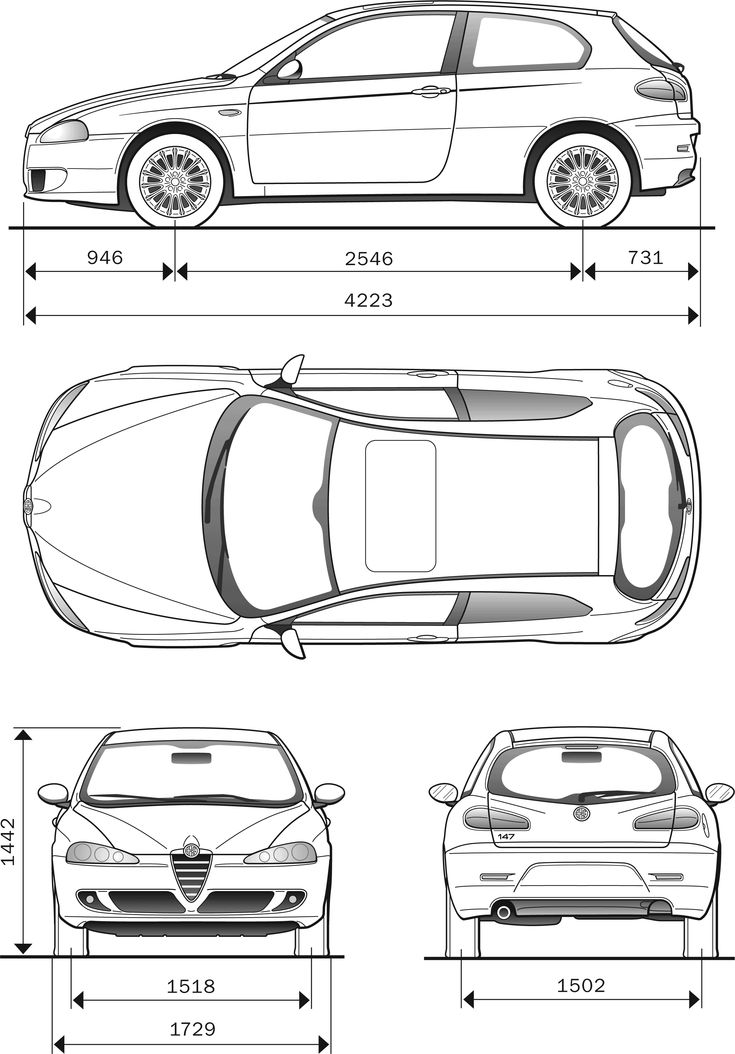 220 best blueprint images on pinterest cars drawings and motor car alfa romeo 147 blueprint malvernweather Images