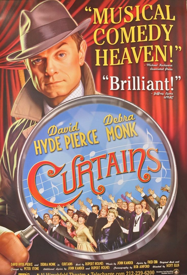 Curtains Original Broadway Poster Debra Monk 2 Feet x 3 Feet | eBay