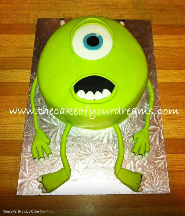 Monsters Inc Mike cake                                                                                                                                                      More