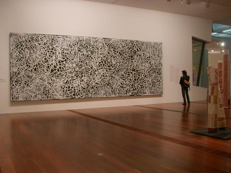 Emily Kame Kngwarreye (Kam Kngwarray), Big Yam Dreaming 1995, synthetic, polymer paint on canvas, 291.1 x 801.8 cm, National Gallery of Victoria, Melbourne © Emily Kame Kngwarreye.