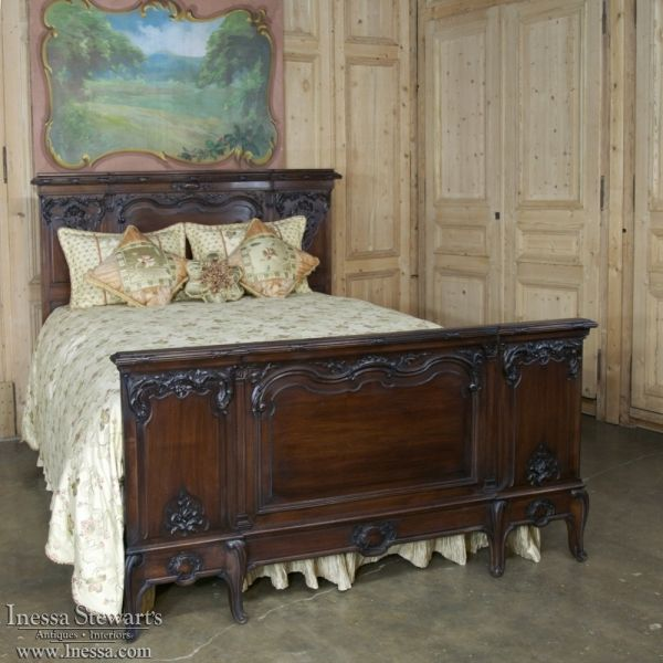 Antique Furniture | Antique Bedroom Furniture | Bedroom Sets | 19th Century French Walnut Neoclassical Bedroom Set | www.inessa.com