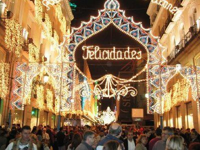 A few different languages are spoken in different regions in Spain. In Spanish Merry Christmas is 'Feliz Navidad'; in Catalan it's 'Bon Nadal' and in Galician 'Bo Nadal'.