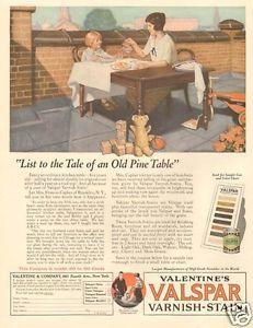 Antique-VALSPAR-Varnish-FURNITURE-TABLE-Frances-Caplan-BROOKLYN-NY-1920s-Art-Ad