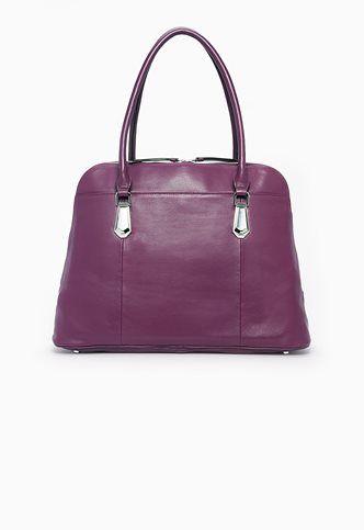 Danier Official Store, Brett Smooth Leather Laptop Bag , amethyst, Handbags, 131020104