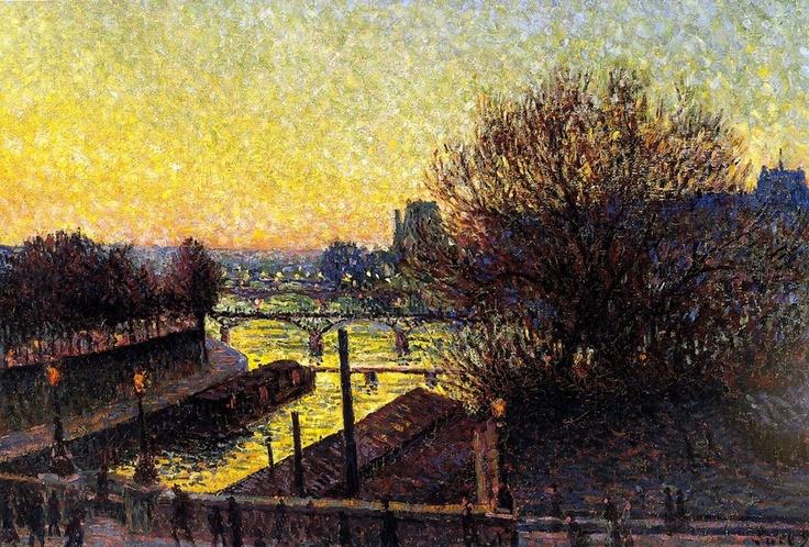 Maximilien Luce. Paris, View of the Seine, Night.