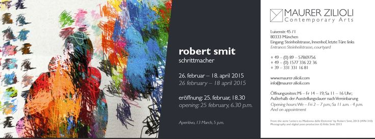 Maurer Zilioli  - Robert Smit - invitation
