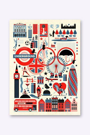 london icons illustration