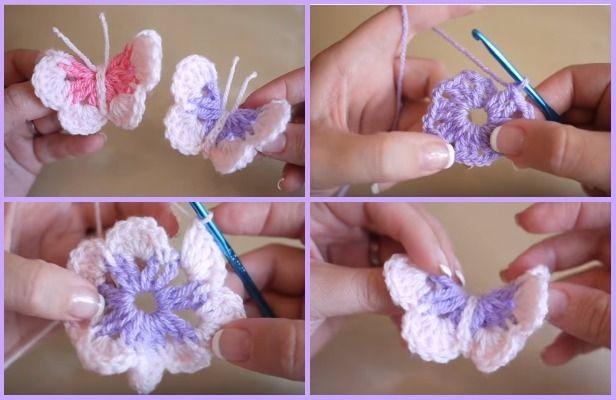 Easy Crochet 3D Butterfly Free Pattern-Video