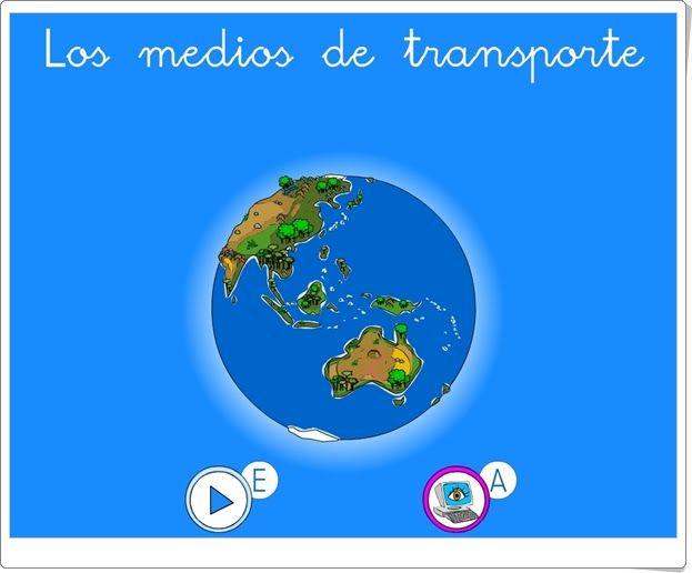 """""""Los medios de transporte"""" es un conjunto de pequeños juegos para el aprendizaje sobre los medios de transporte."""
