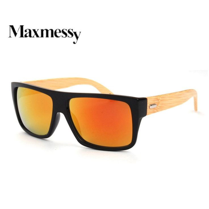 Vintage Bamboo Wooded Sunglasses Wood Legs Sunglasses Women Brand Designer Men Driving Eyewear Like and Share if you want this #shop #beauty #Woman's fashion #Products #Classes