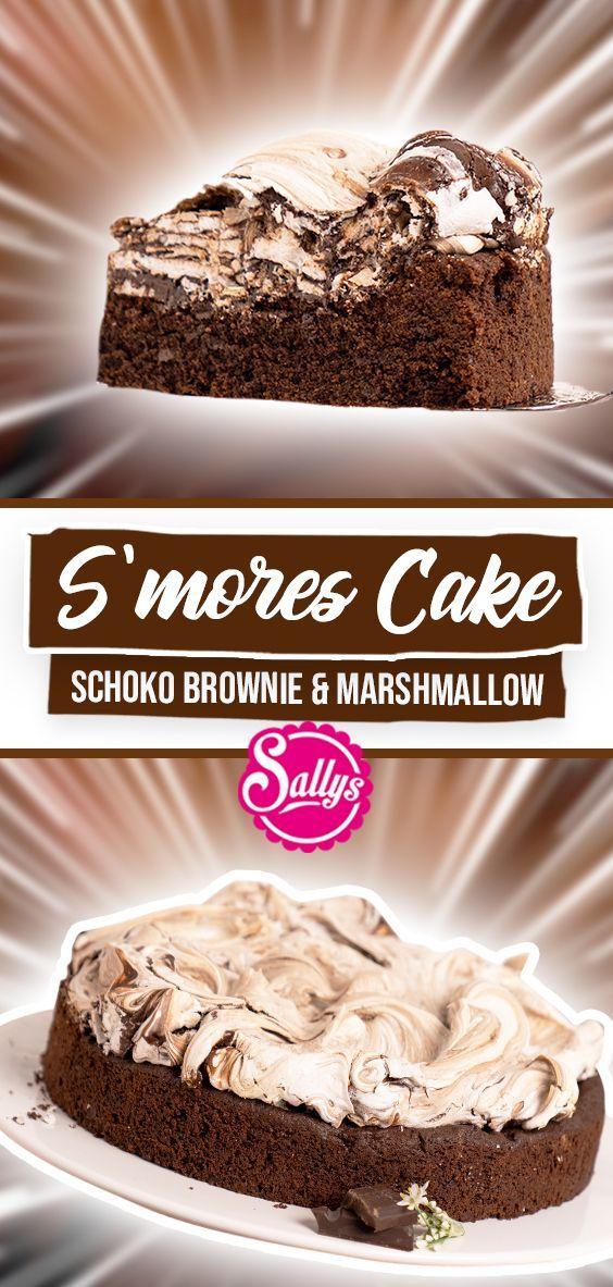 S & MORES CAKE #marshmallows Saftiger brauner Laib mit knusprigem Baiser …   – documentary