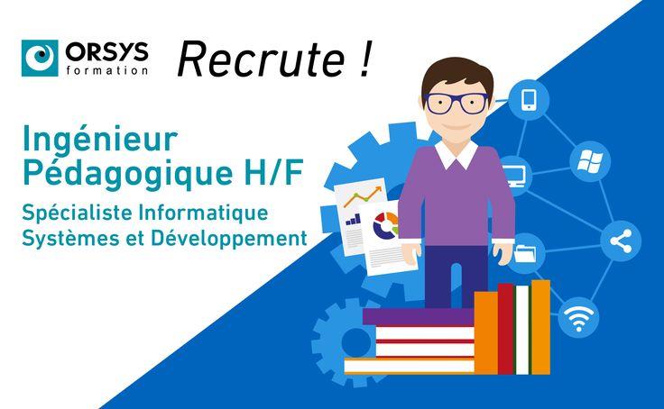 #Onrecrute #ingénieur #pédagogique #informatique pour #Paris