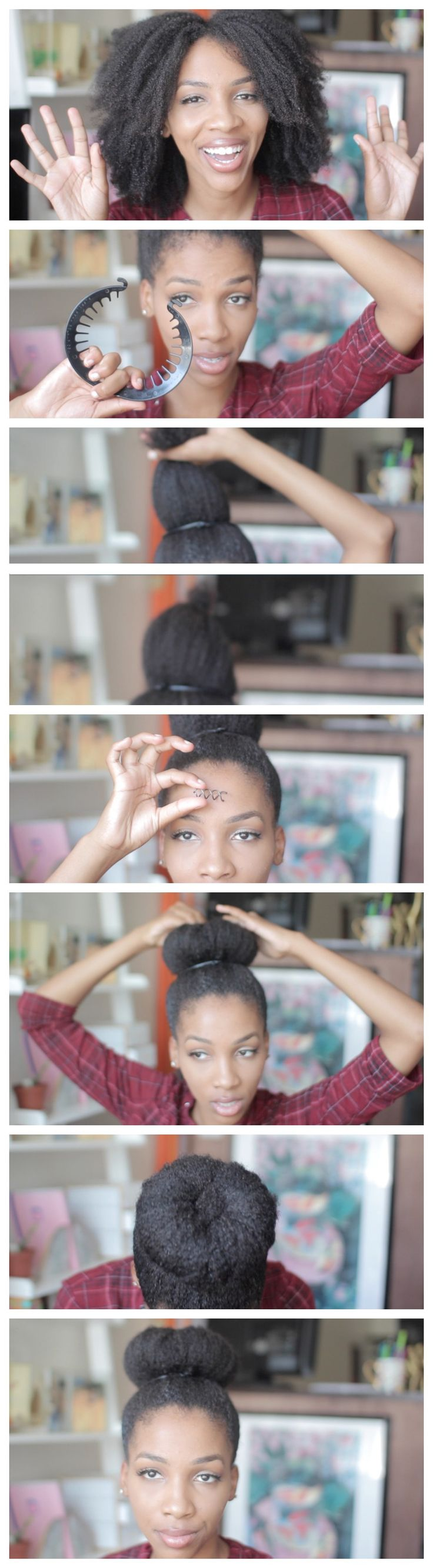 The easiest natural hair donut tutorial ever