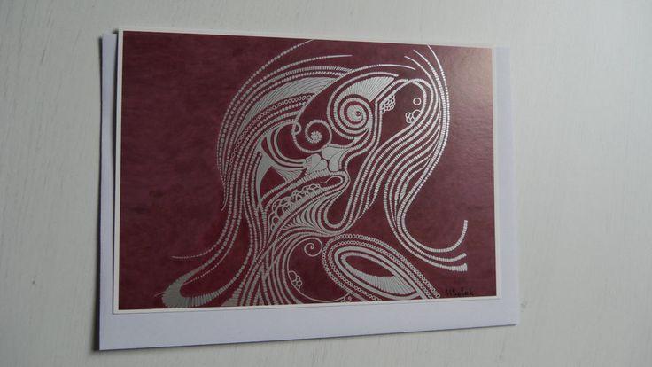 Kunst-druck-Karte Din A5 Sonderdruck Handsigniert Postkarte Faltkarte