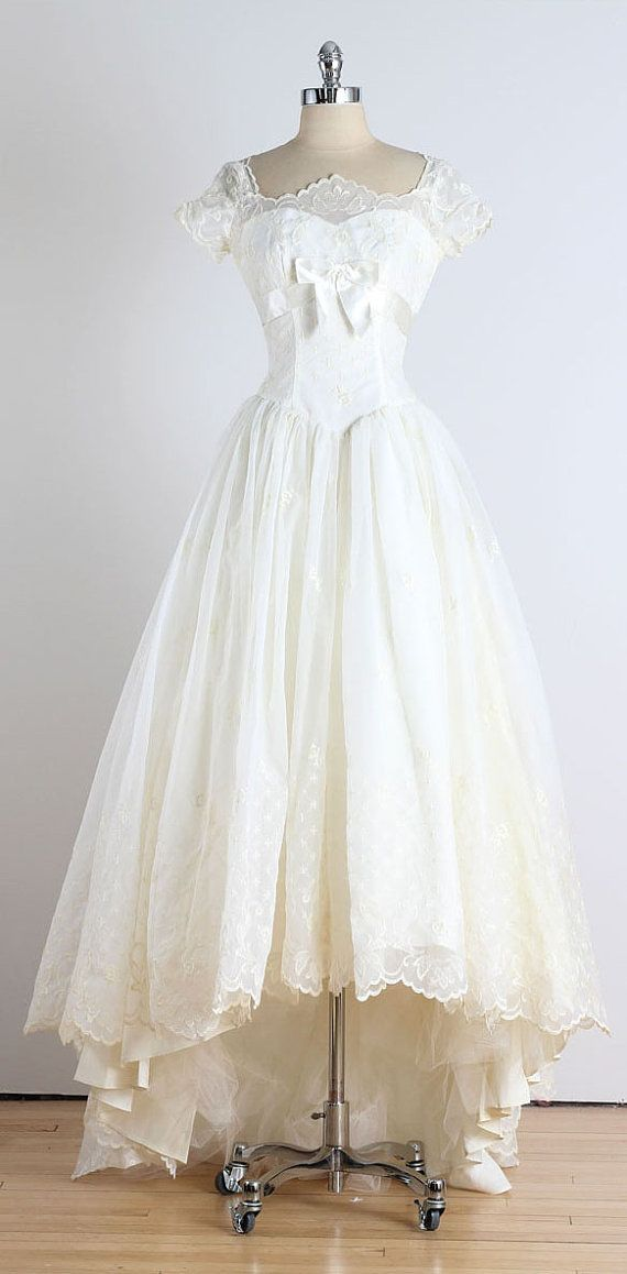 Trousseau Vintage 1950s Dress By Millstreetvintage Wedding Dresses And Bridemaids
