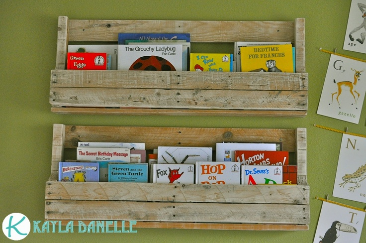 Pallet Bookshelves: Challenges, Kids Playroom, Diy Craft, Pallets, Kid Stuff, Craft Ideas, Pallet Bookshelves, Kids Rooms