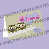 25  Day Invitations - Owl Wedding Stationery