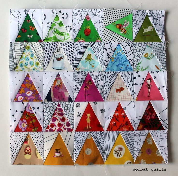 Looking for your next project? You're going to love Triangle Mini Quilt Pattern by designer Wombat Quilts.