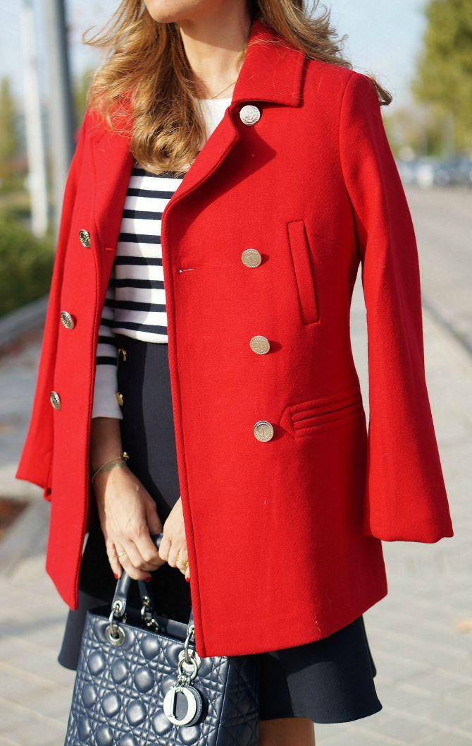 Abrigo de mujer Tintoretto rojo de estilo marinero | esfaniapersonalshopper