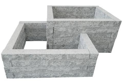 Hochbeet Bausatz aus Granit-Stein