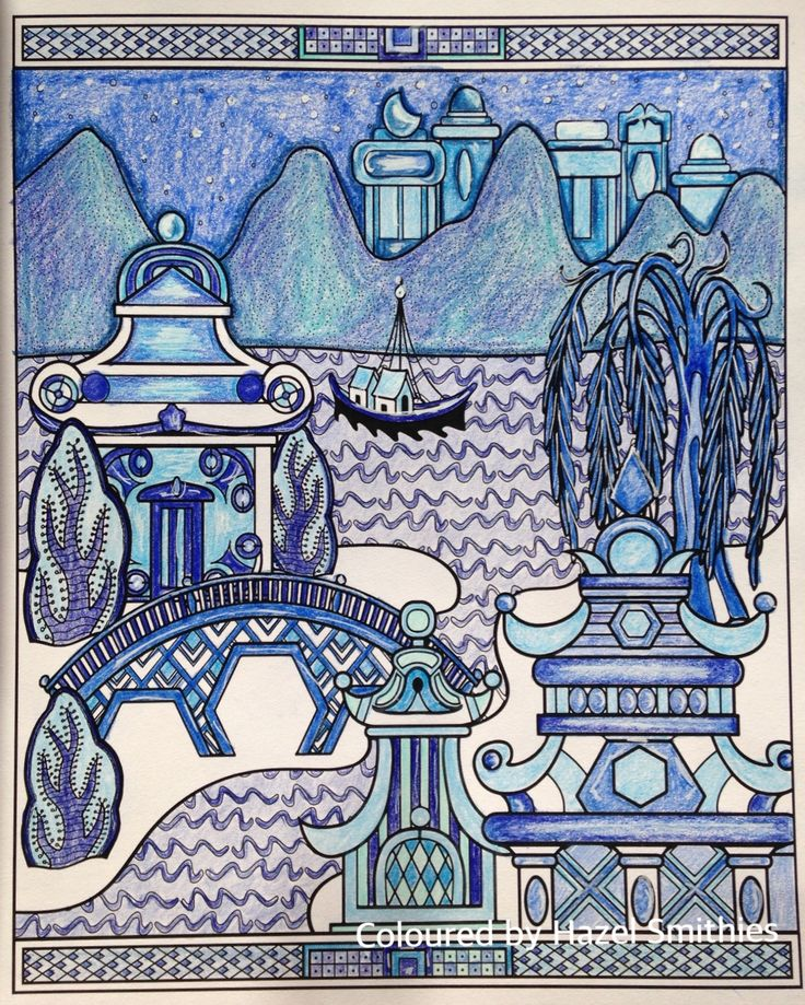 From Blue Willow A Colouring Book Story By Patty Vadalia In Prismacolor Premier Pencils