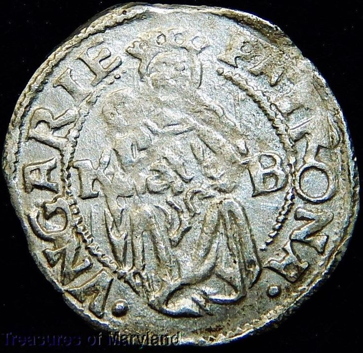 EXCELLENT! 1532 MARY HOLDING BABY JESUS HUNGARIAN DENAR! sku #RE17
