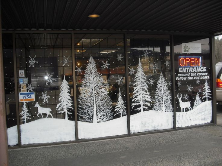 Christmas Window Painting Ideas | Christmas / Holiday