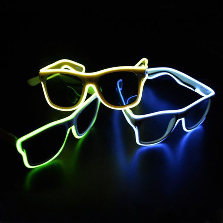 Blue el glasses El Wire Fashion Neon LED Light Up Shutter Shaped Glow Rave Costume Party DJ Bright Glasses -- You can find more details by visiting the image link.