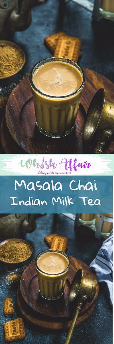 Masala Chai or Masala Tea is a very popular Indian drink made using tea leaves, milk and chai masala powder. It's a perfect drink to sip on throughout the day. Here is how to make Masala Tea. #Indian #Tea #Chai via @WhiskAffair