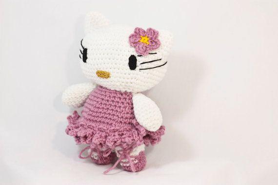 Crochet Hello Kitty DollAmigurumi Kitty Ballet Dancer by BadHatCat