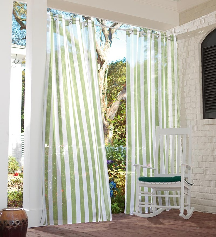 Add A Little Shade And A Lot Of Atmosphere To Your Porch Or Patio With  These · Porch CurtainsCream CurtainsOutdoor ...
