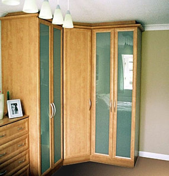 23 Admirable Wardrobe Designs To Inspire You : Incredible Wood Finishes Curve  Wardrobe Design in Lime Green and White Bedroom