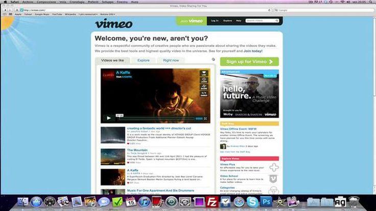 Come si usa Vimeo, cos'è il Vimeo Plus e le differenze da YouTube http://www.skimbu.it