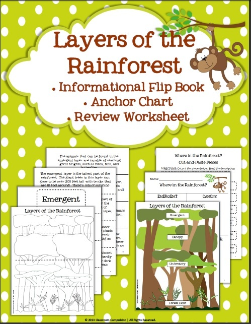 rainforest biome habitat layers flip book anchor chart and worksheet simply science. Black Bedroom Furniture Sets. Home Design Ideas