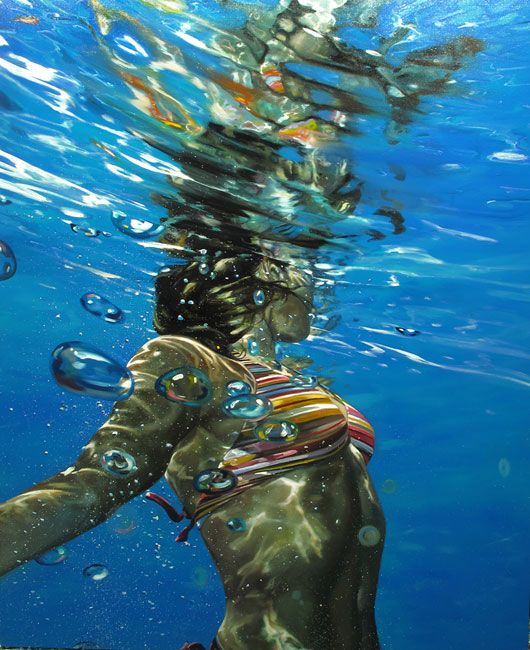 This morning we take a look at the photoreal paintings of Eric Zener. The self taught northern California-based artist's water and underwater pain...
