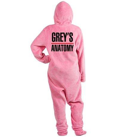 Greys Anatomy Footed Pajamas