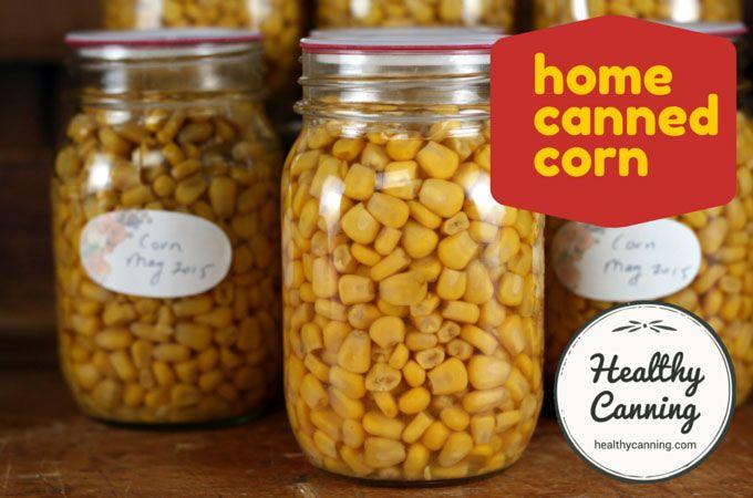 Canning corn kernels