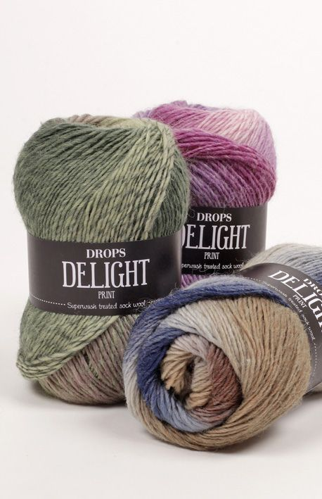 DROPS Delight - A soft and exciting superwash treated wool!