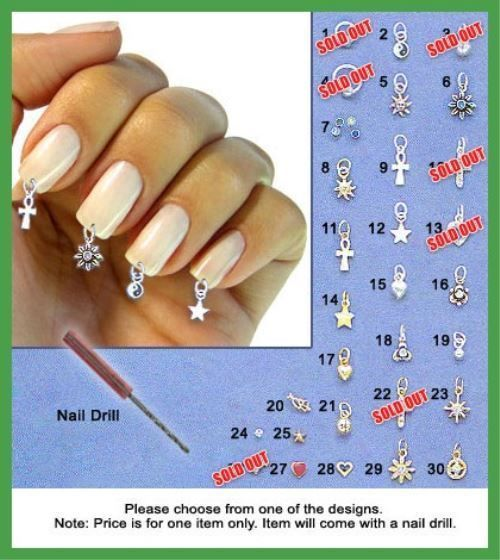 STERLING SILVER NAIL TIP JEWELRY | ARTIFICIAL NAILS PIERCING #BodyJewelry